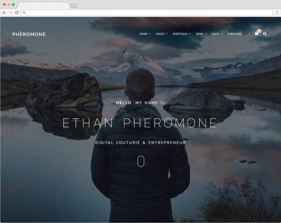 Pheromone WordPress Minimal Theme For Creative Companies