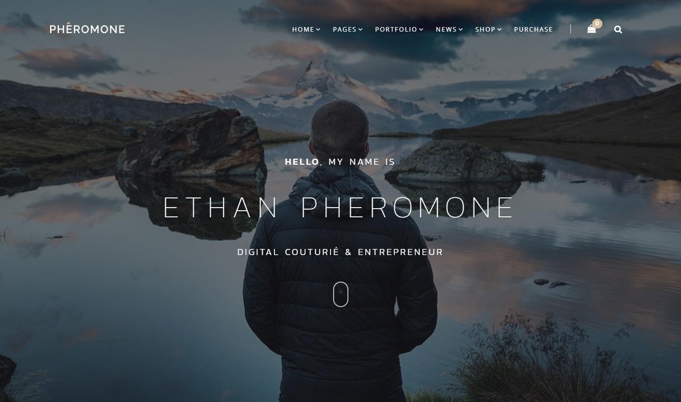 Pheromone WordPress Modern Portfolio Blog Theme
