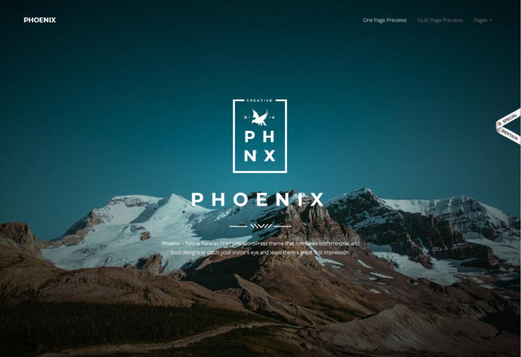 Phoenix One Page Coming Soon WordPress Theme 1