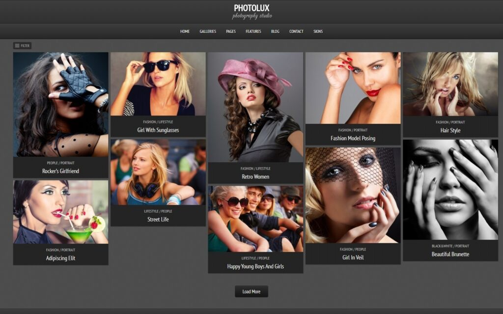 Photolux Premium Photography WordPress Theme