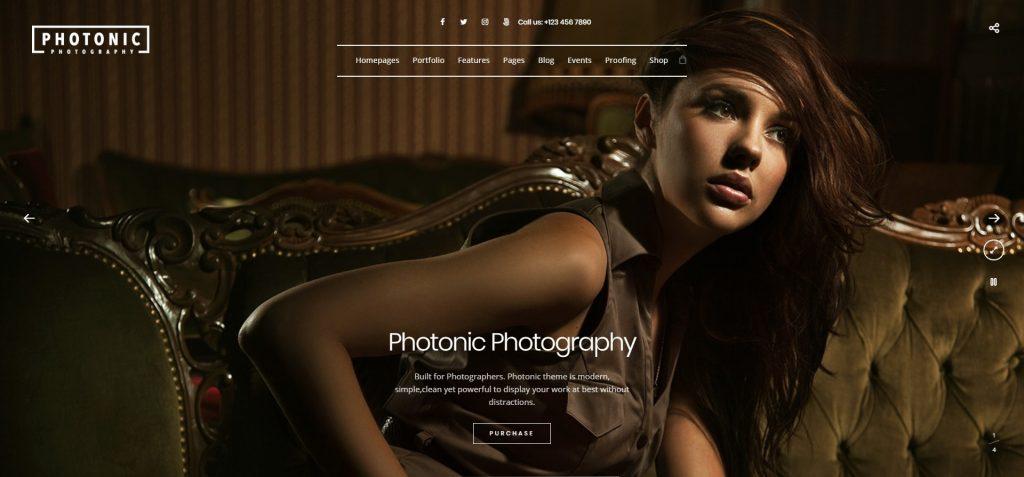 Photonic Fullscreen Photography WordPress Theme