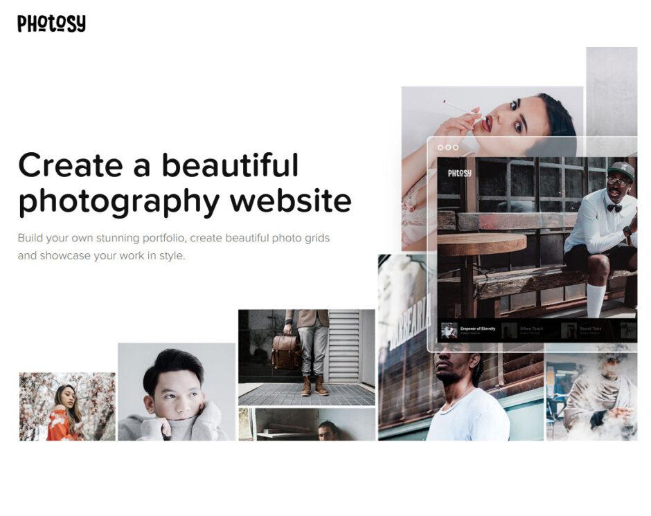 Photosy WordPress One Page Photography Portfolio Themes