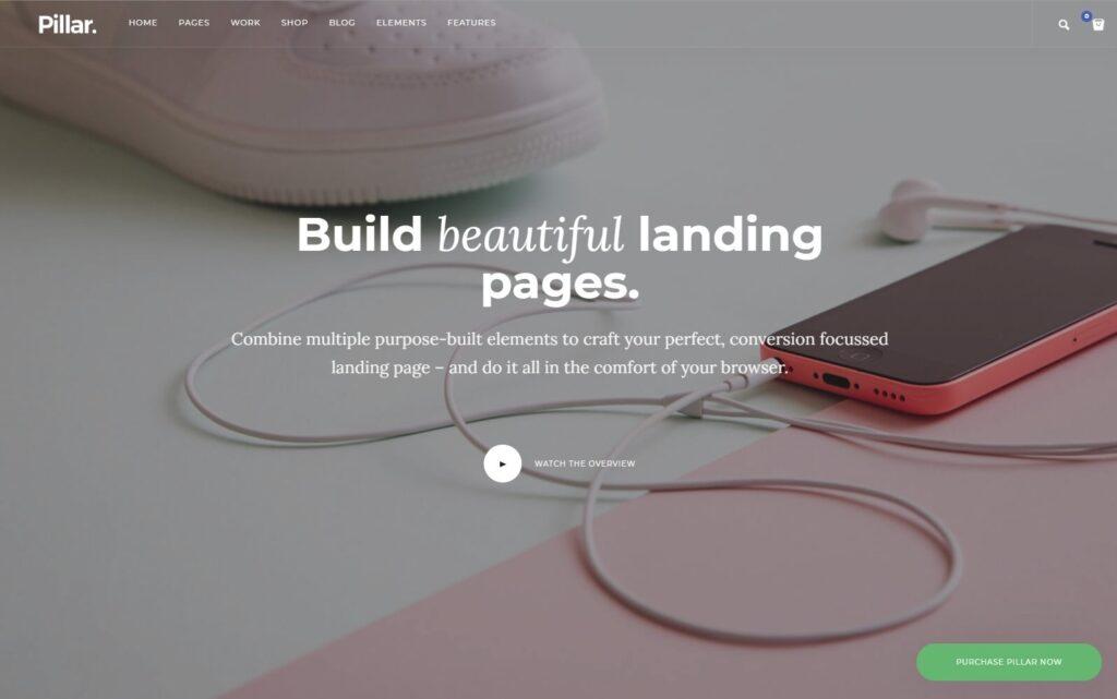 Pillar WordPress Landing Page Builder Theme