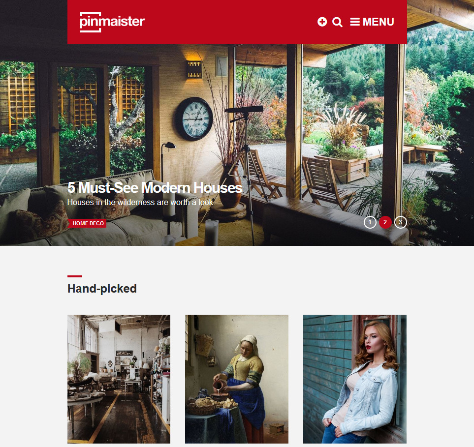 Pinmaister WordPress Masonry Grid Theme