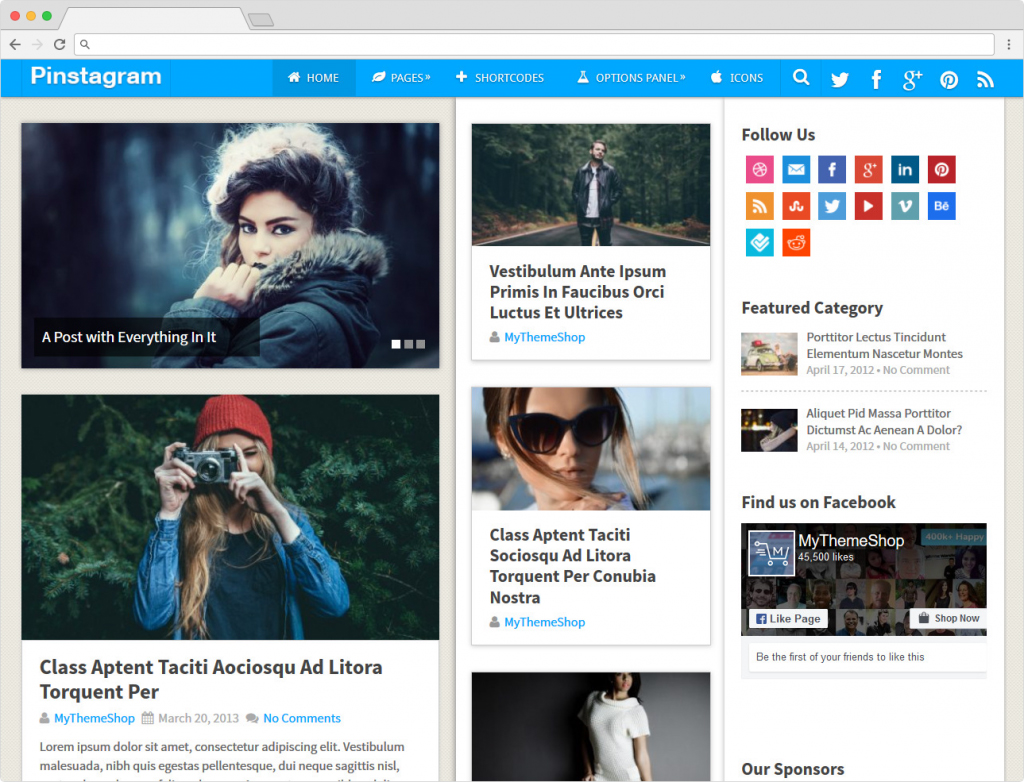 Pinstagram Viral Marketing Magazine WordPress Theme