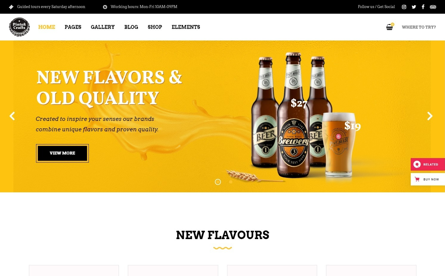 Pints Crafts WordPress Theme for Breweries