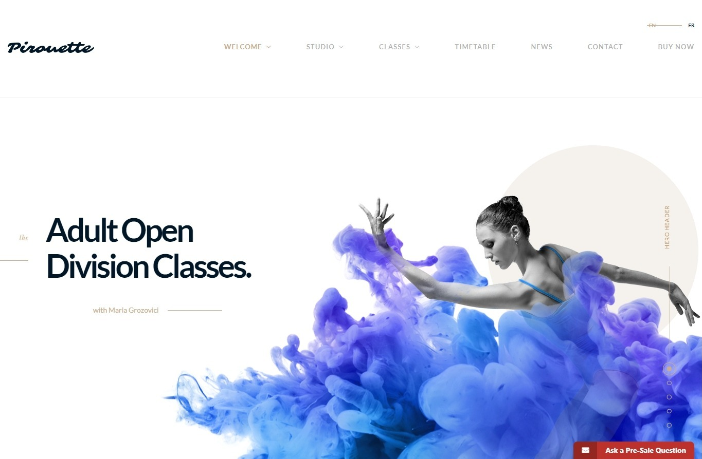 Pirouette Full Featured Ballet Studio WordPress Theme