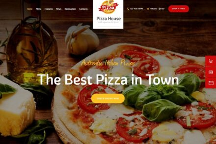 Pizza House Pizza Parlor Theme with Online Ordering