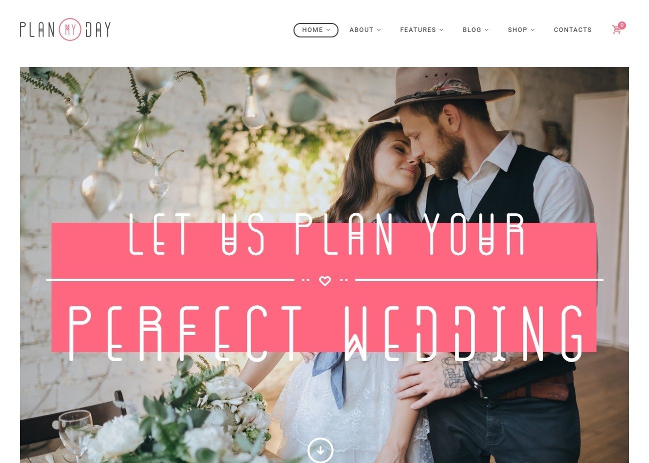 PlanMyDay Wedding Agency WordPress Theme