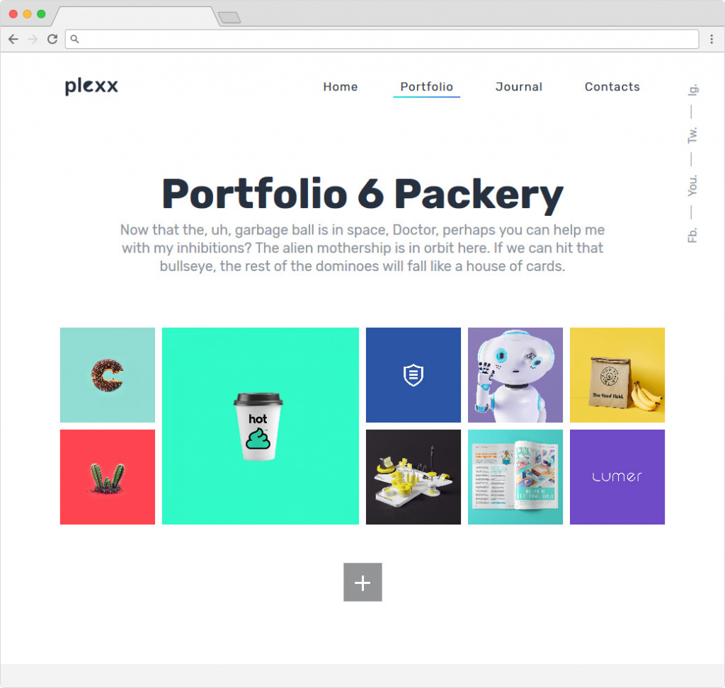 Plexx WordPress Portfolio Theme Clean Metro Style
