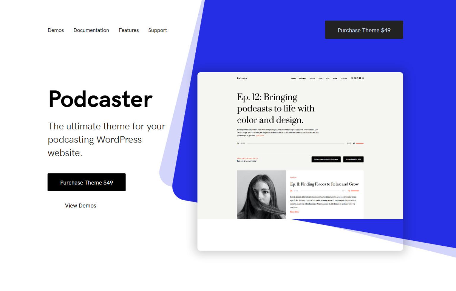 Podcaster Multimedia Podcasting WordPress Theme
