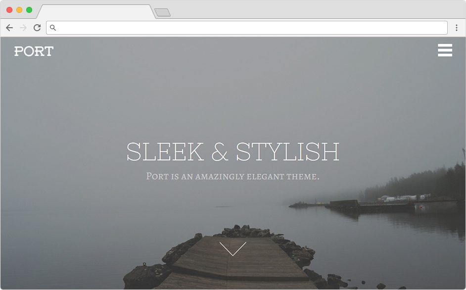 Port Sleek Stylish Creative WordPress Theme
