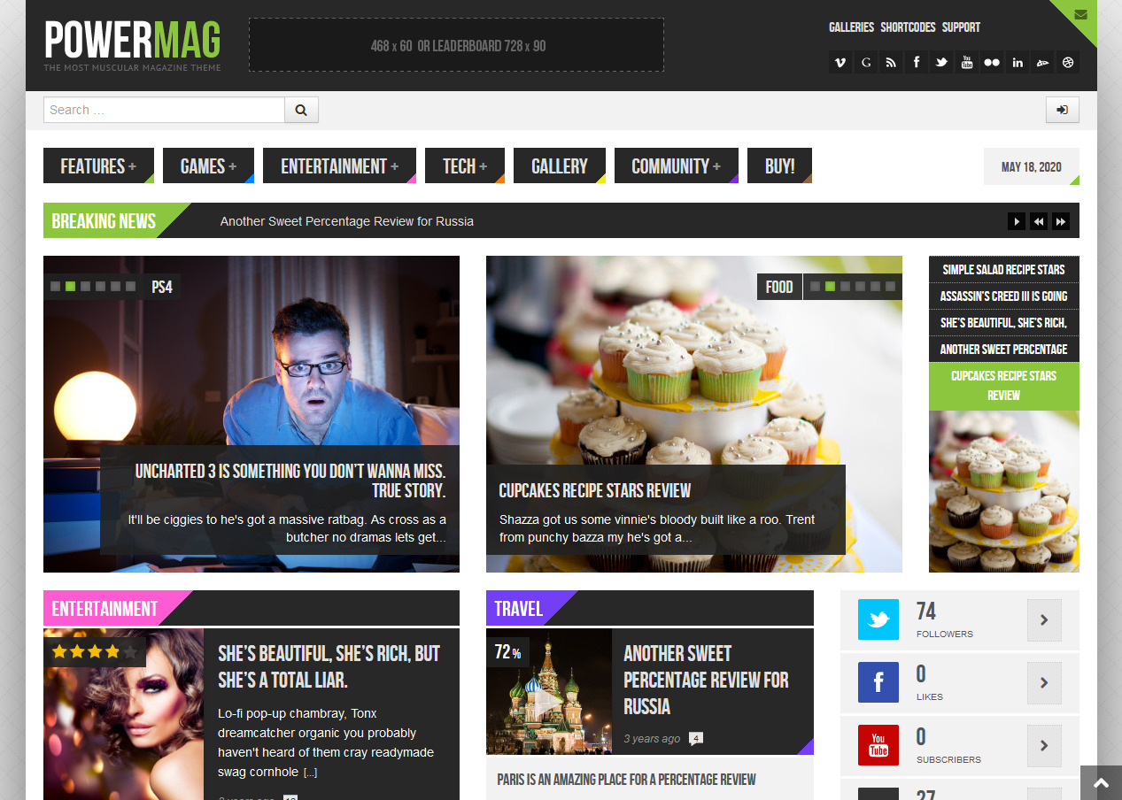 PowerMag The Most Muscular Magazine and Reviews Theme