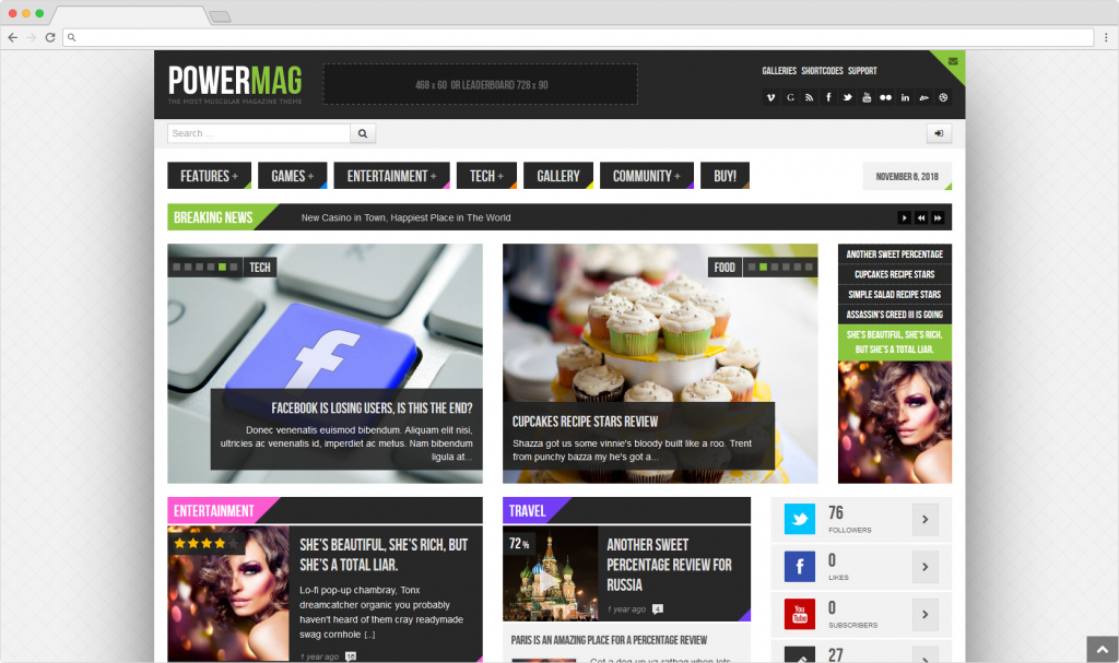 Powermag WordPress Product Reviews Magazine Themes
