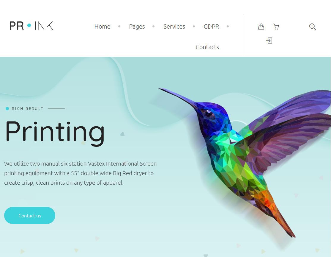 Prink Print Shop WordPress Theme