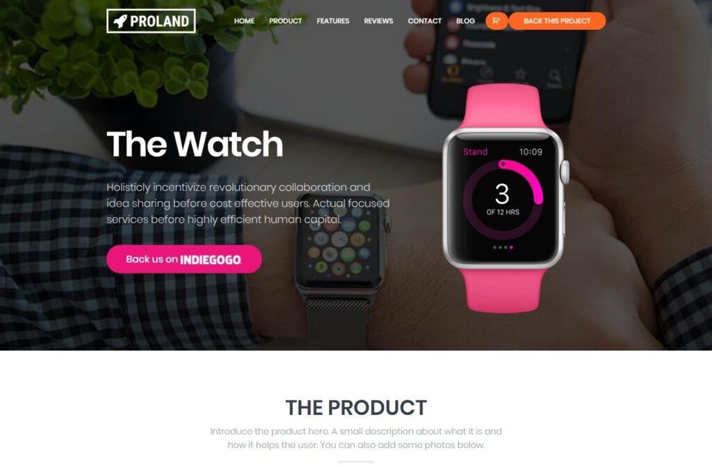 Proland WordPress Product Landing Page Theme
