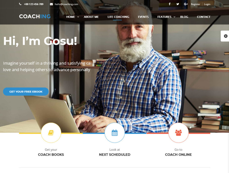 Public Speaker Life Coach WordPress Themes