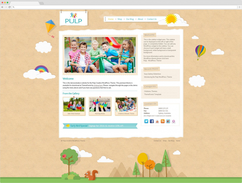 Pulp WordPress Childrens Theme