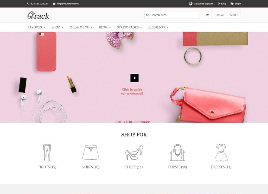 Qrack Elegant WooCommerce WP Theme