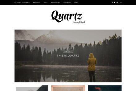 Quartz Clean Simple And Minimalist ECommerce Theme
