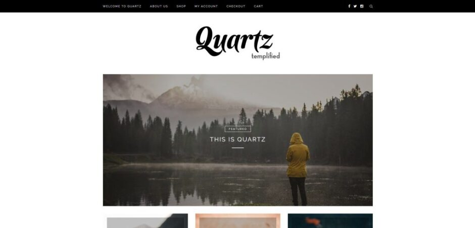 Quartz Clean Simple And Minimalist ECommerce Theme