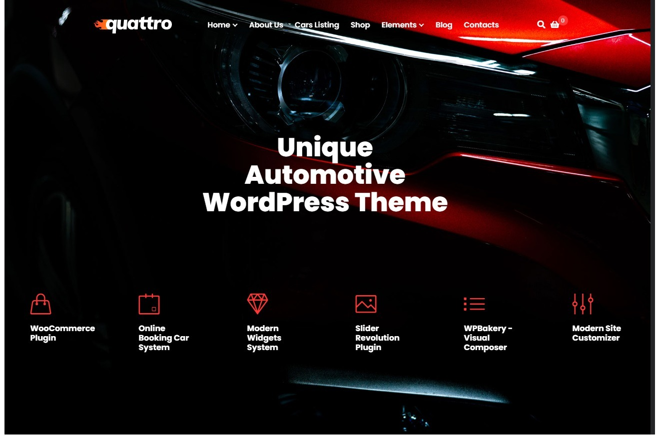 Quattro All Purpose Automotive WordPress Theme