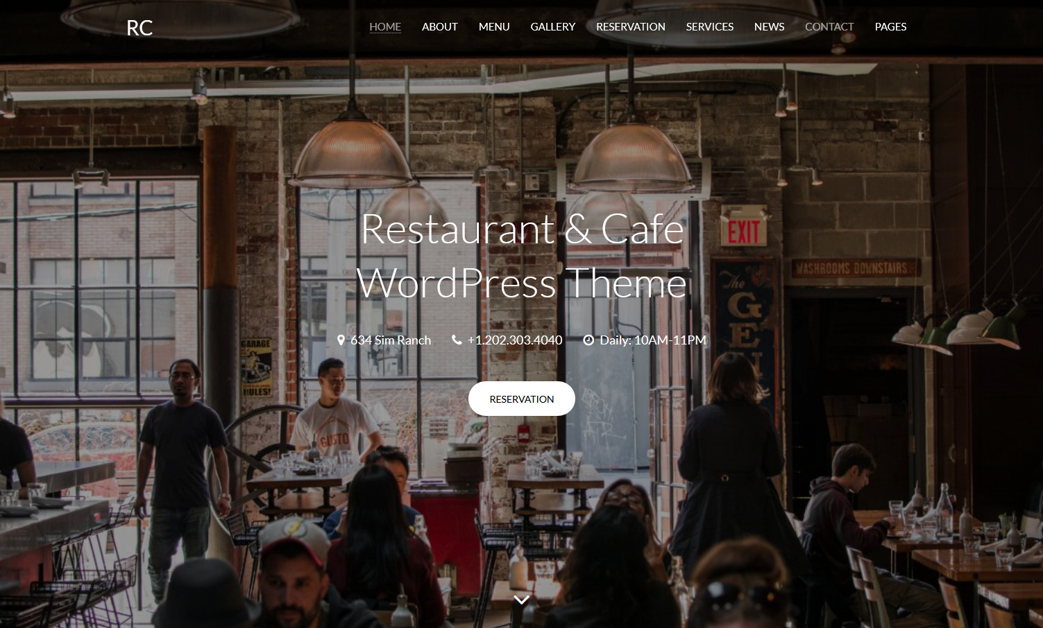RC Restaaurant Cafe and Bakery WordPress Theme