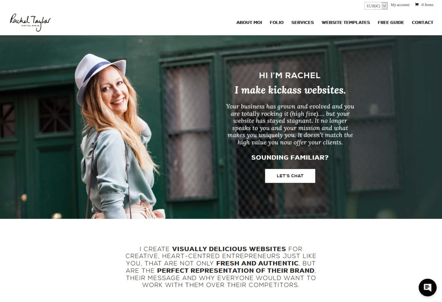 Rachel Taylor Web Developer Using Divi WordPress Theme