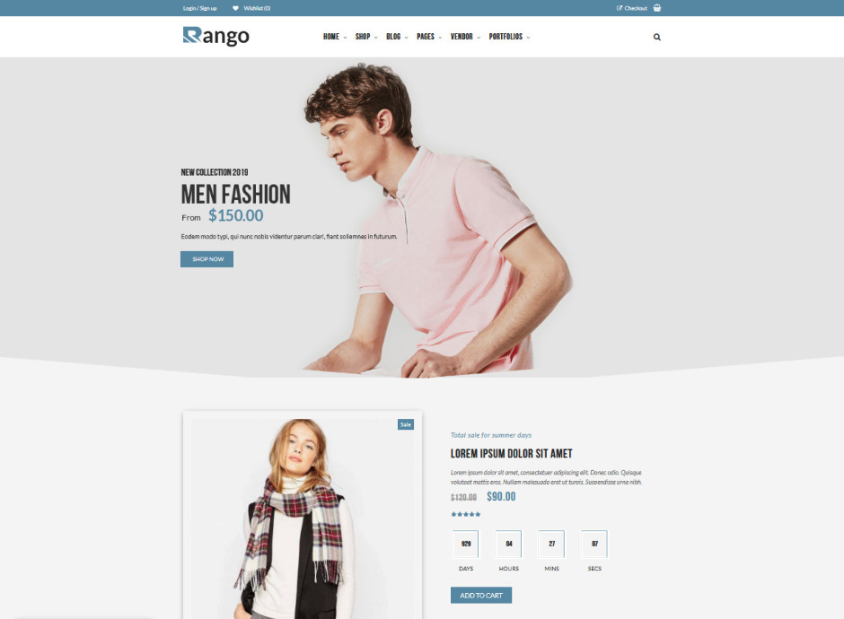 Rango Elegant Fashion WooCommerce WordPress Theme