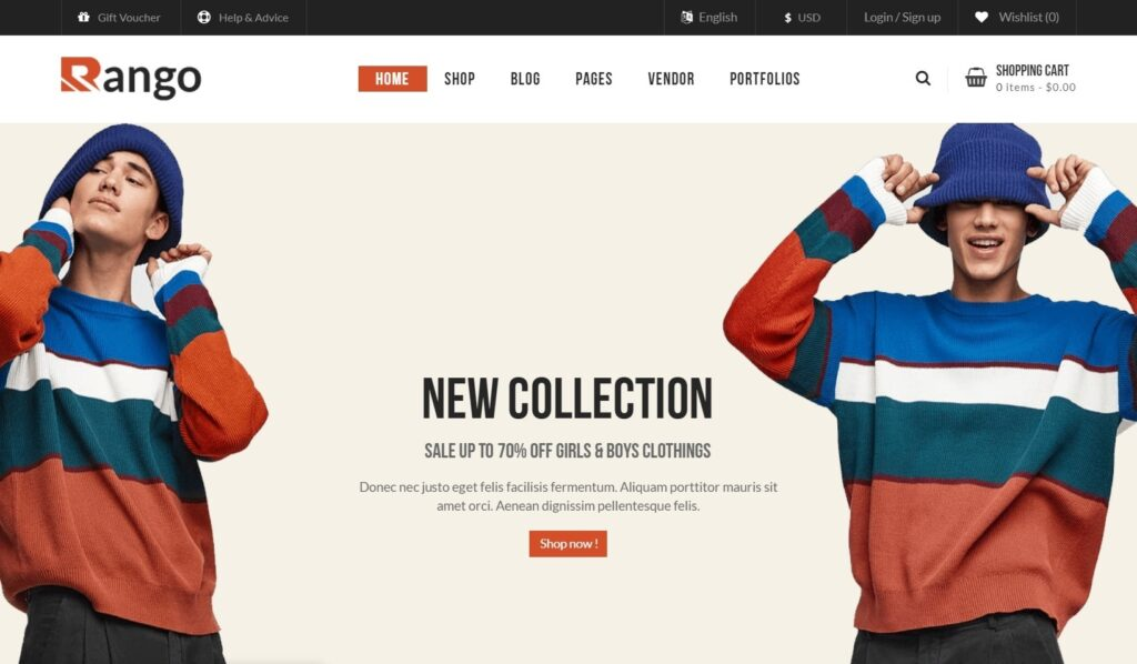 Rango Lookbook and Full Screen Fashion Blogger Theme