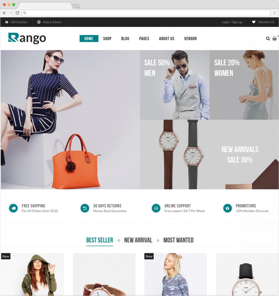 Rango Modern WordPress Multi Vendor ECommerce Theme