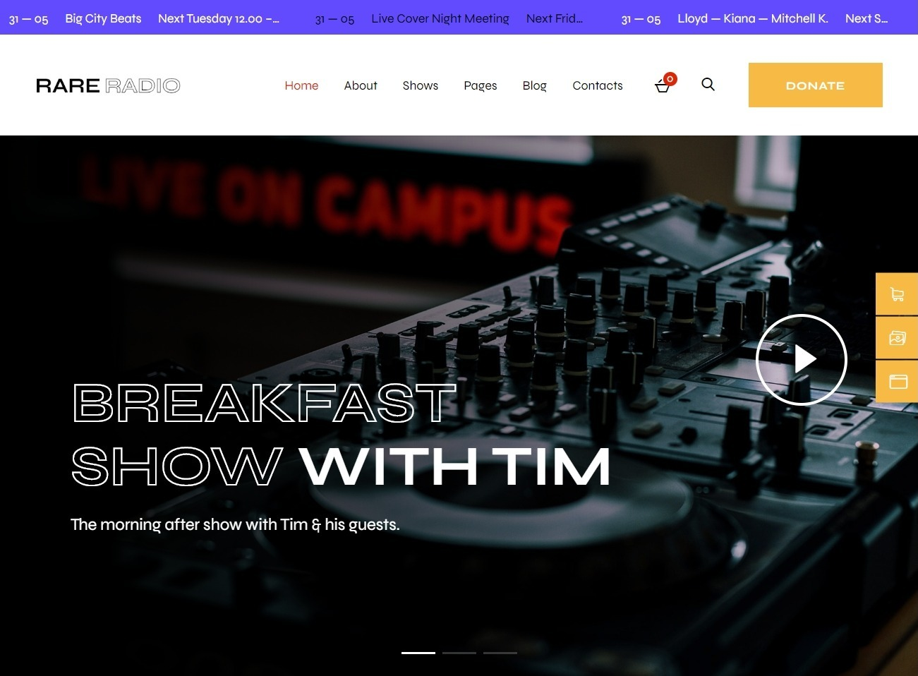 Rare Radio Online Music WordPress Theme