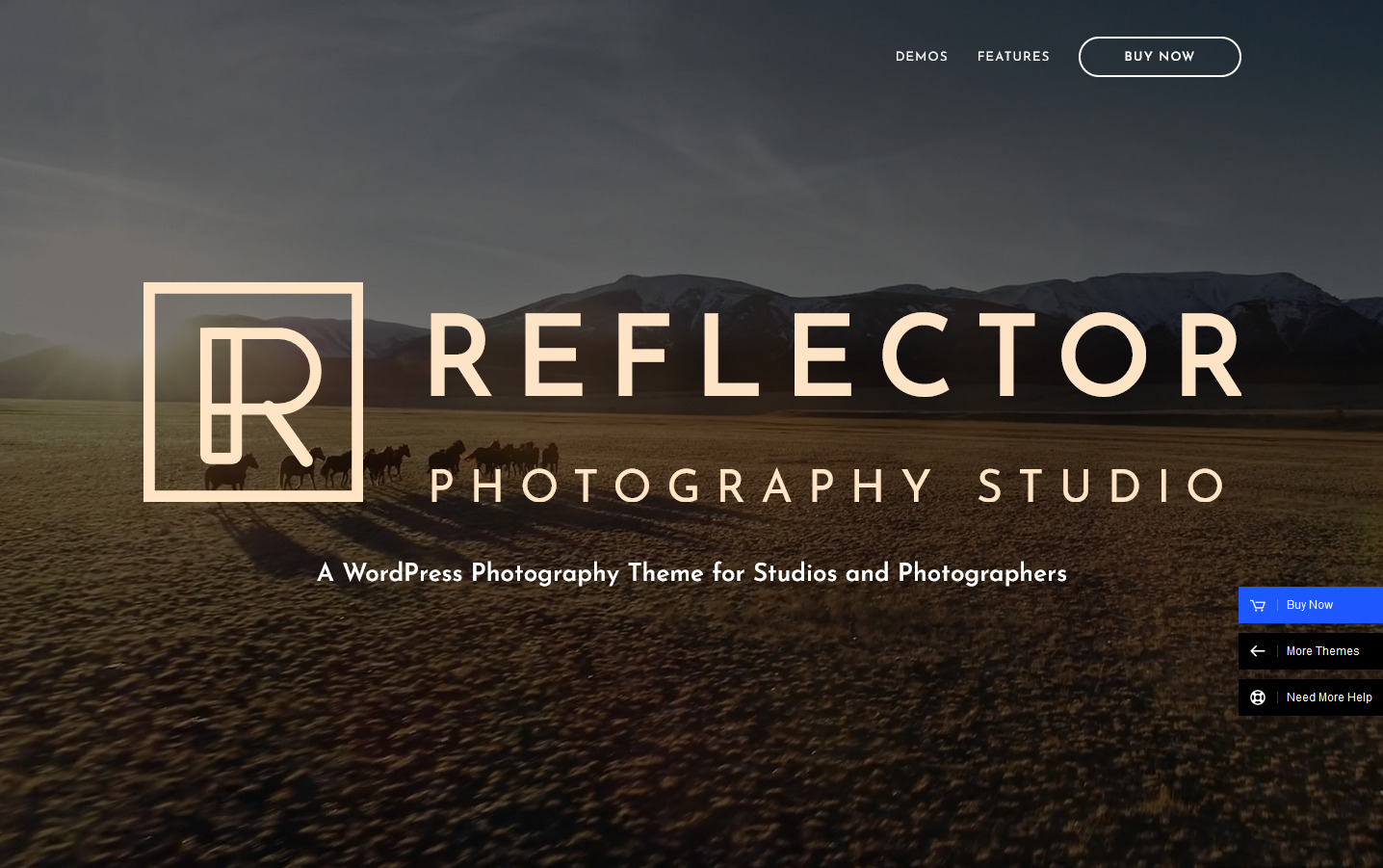 Reflextor Photo and Video Studio WordPress Theme