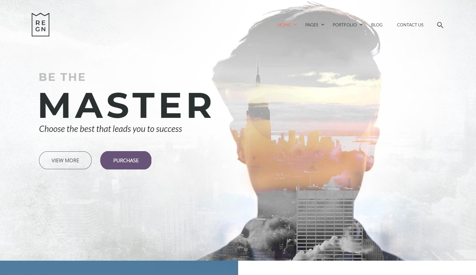 Regn Simple Minimalist WordPress Theme