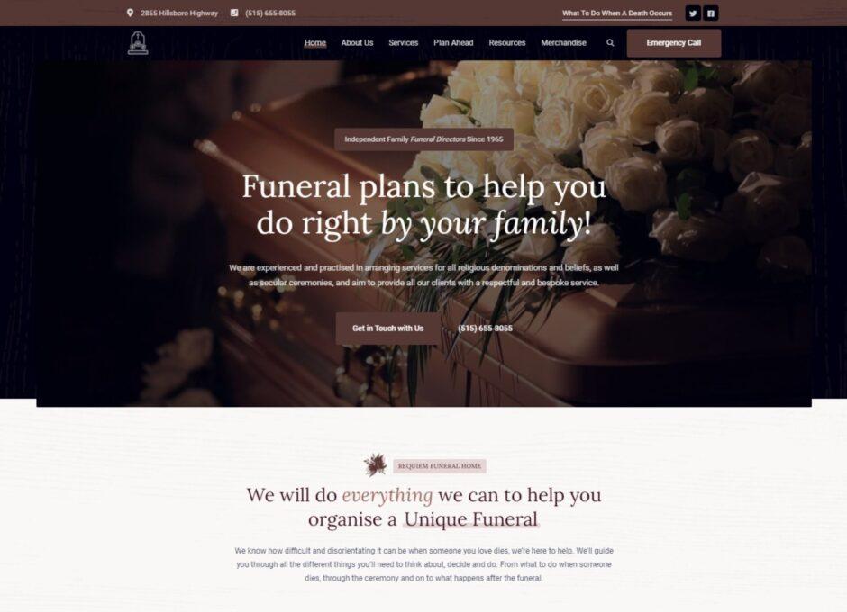 Requiem WordPress Funeral Services Theme