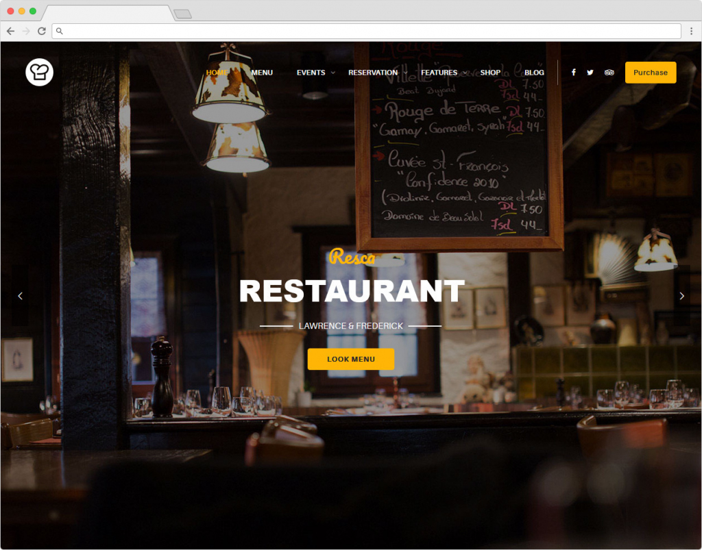 Resca Restaurant And Bakery Theme