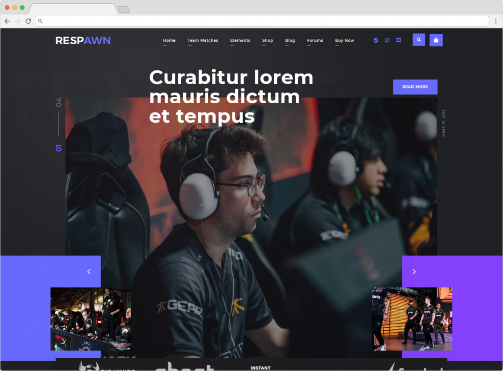 Respawn Esports Gaming WordPress Theme