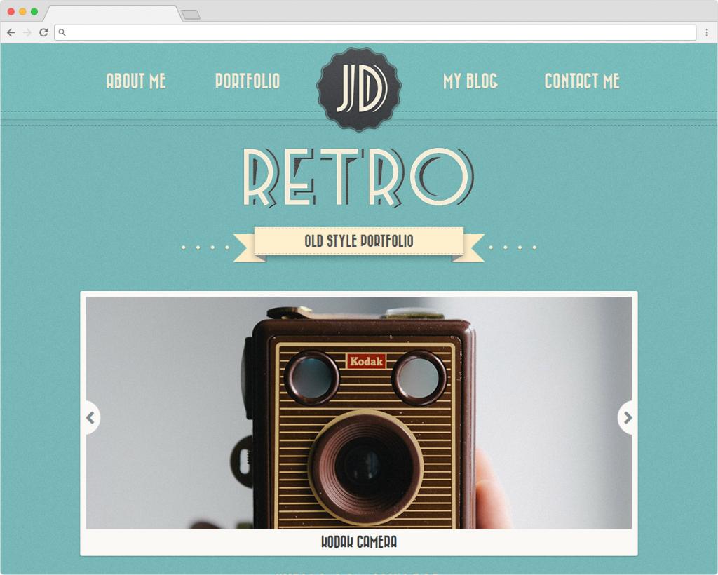 Retro WordPress SIngle Page Old School Portfolio
