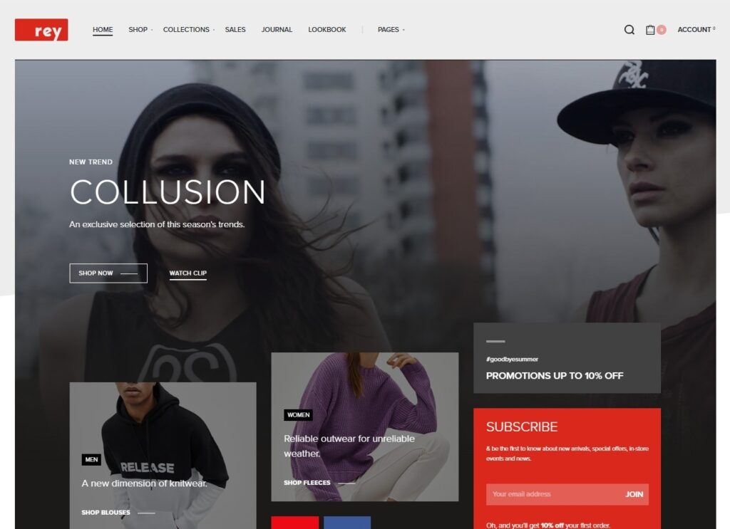 Rey King of Modern WooCommerce Themes