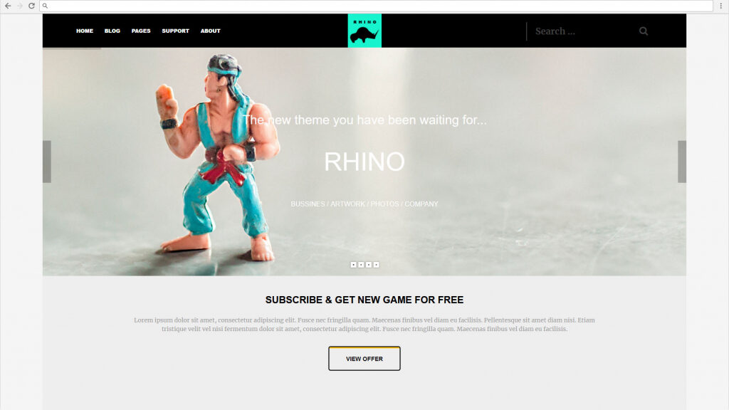 Rhino Tesla Themes Gaming Magazine Theme