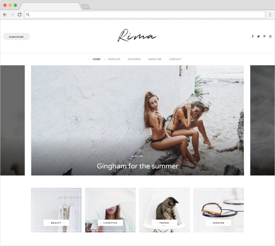 Rima Stylish and Modern Personal Blogging Theme for Today