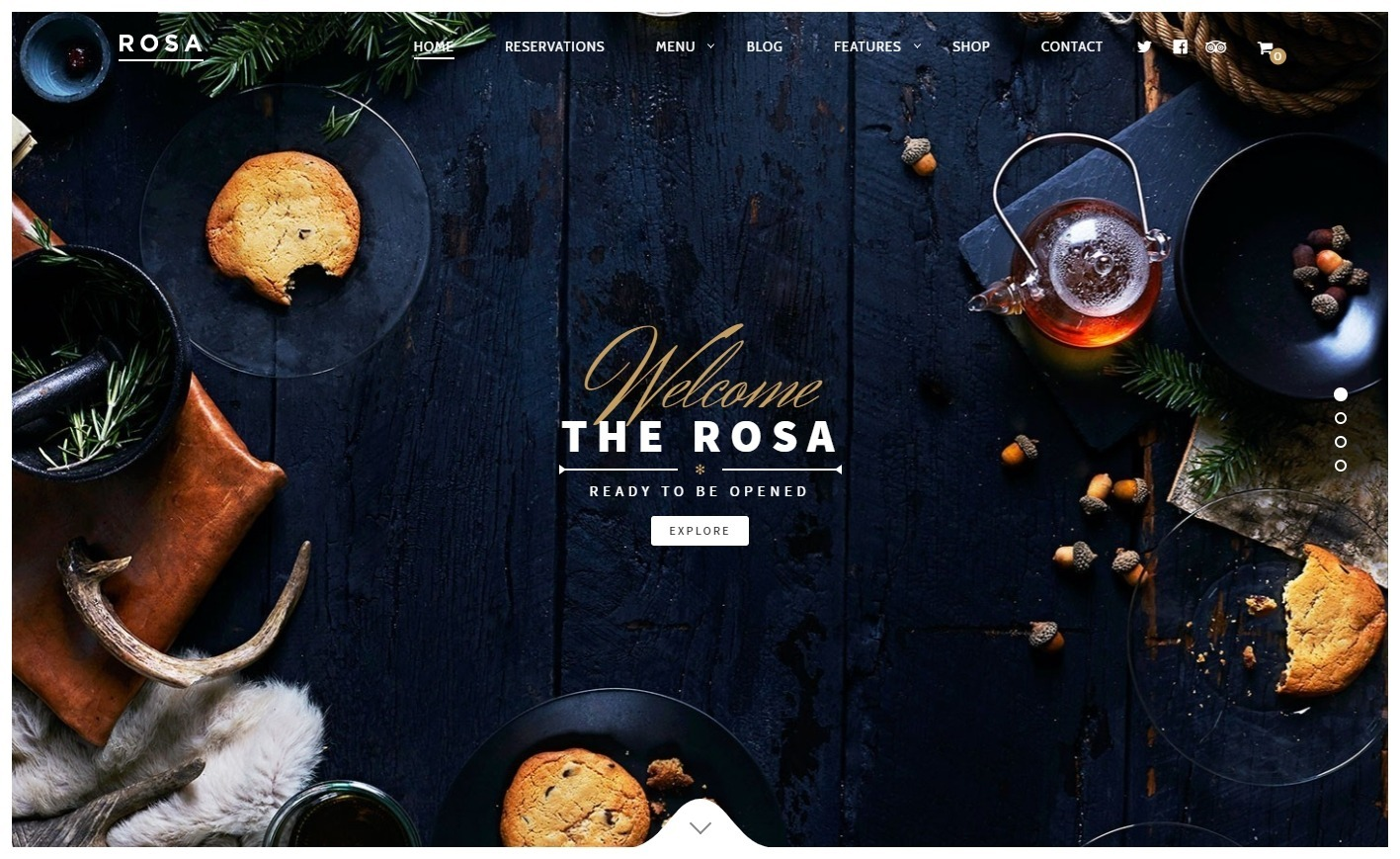 Rosa Exquisite Restaurant WordPress Theme