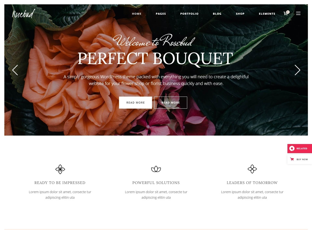 Rosebud A Flower Shop Florist and Decoration WordPress Theme