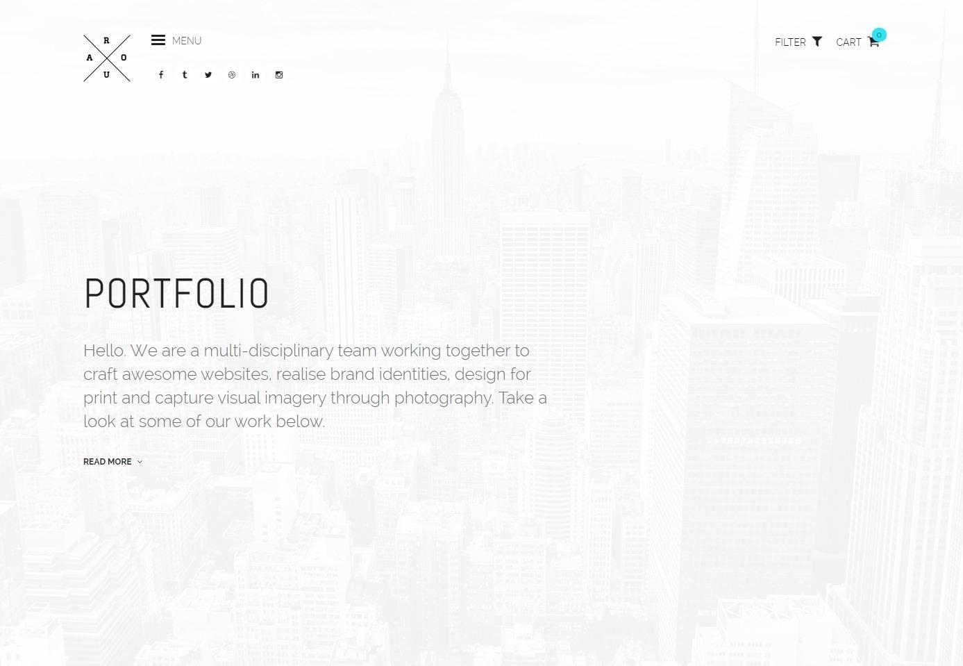 Roua Minimal Creative Portfolio WordPress Theme
