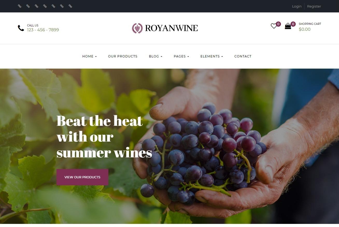 Royan Wine Responsive Wine Shop WordPress Theme