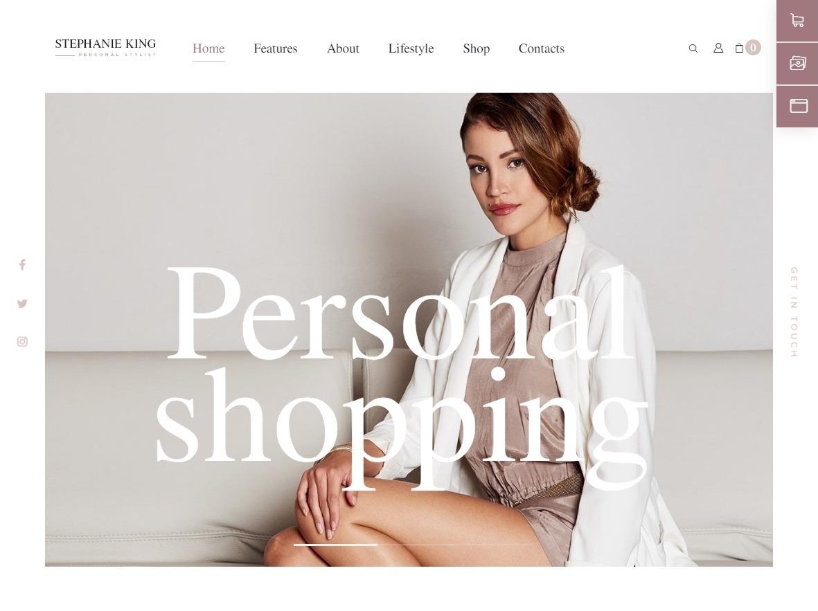 S. King WordPress Personal Fashion Coach Theme