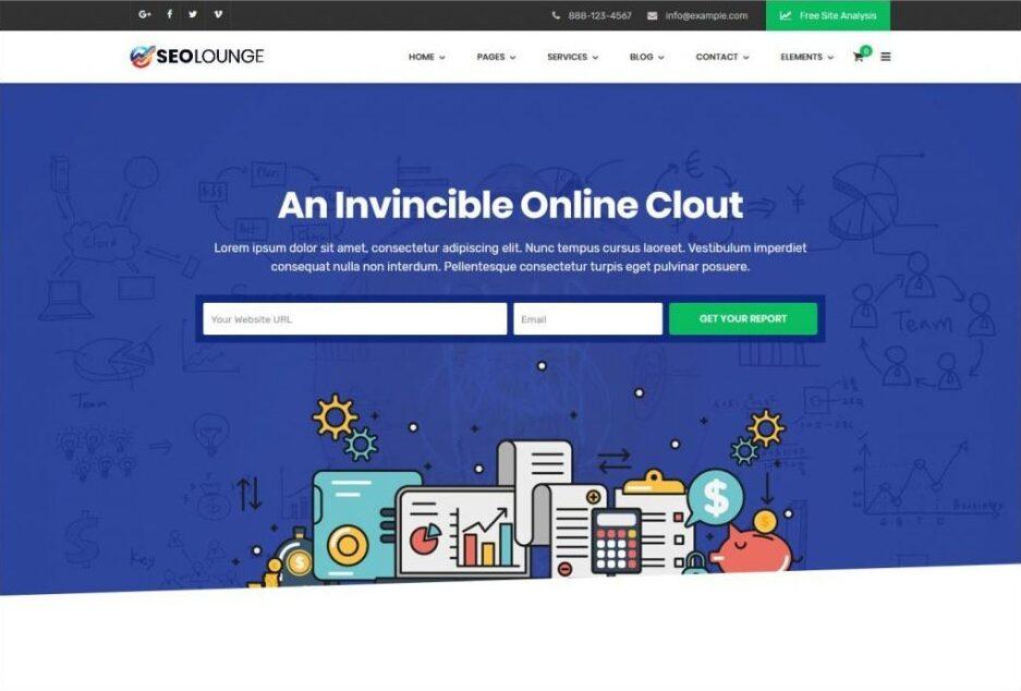 SEO Lounge WordPress Digital Marketers Web Template
