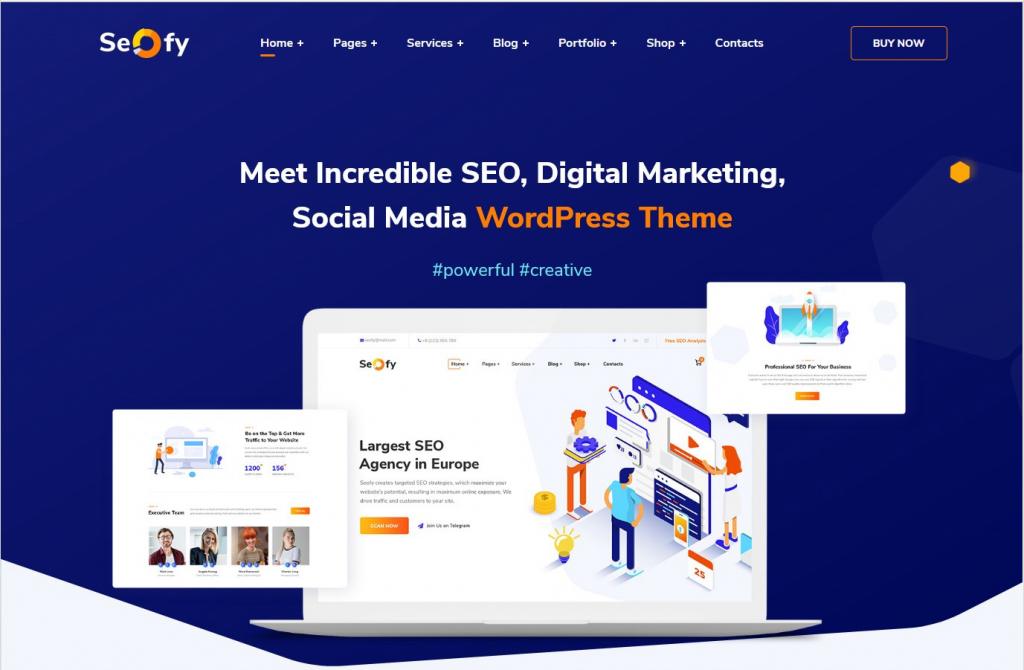 SEOfy WordPress SEO Service Marketing Theme