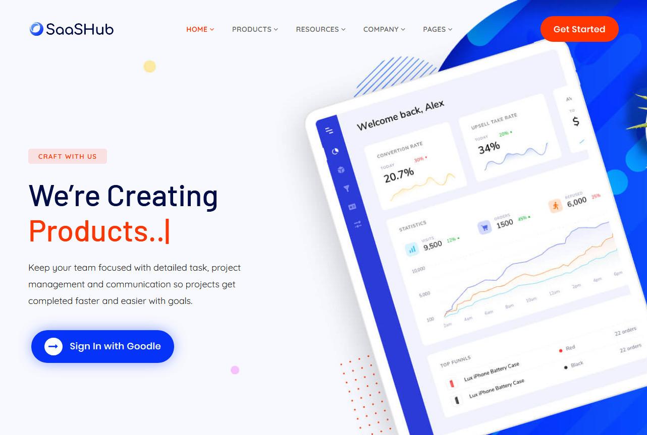 SaaSHub Digital Product WordPress Theme