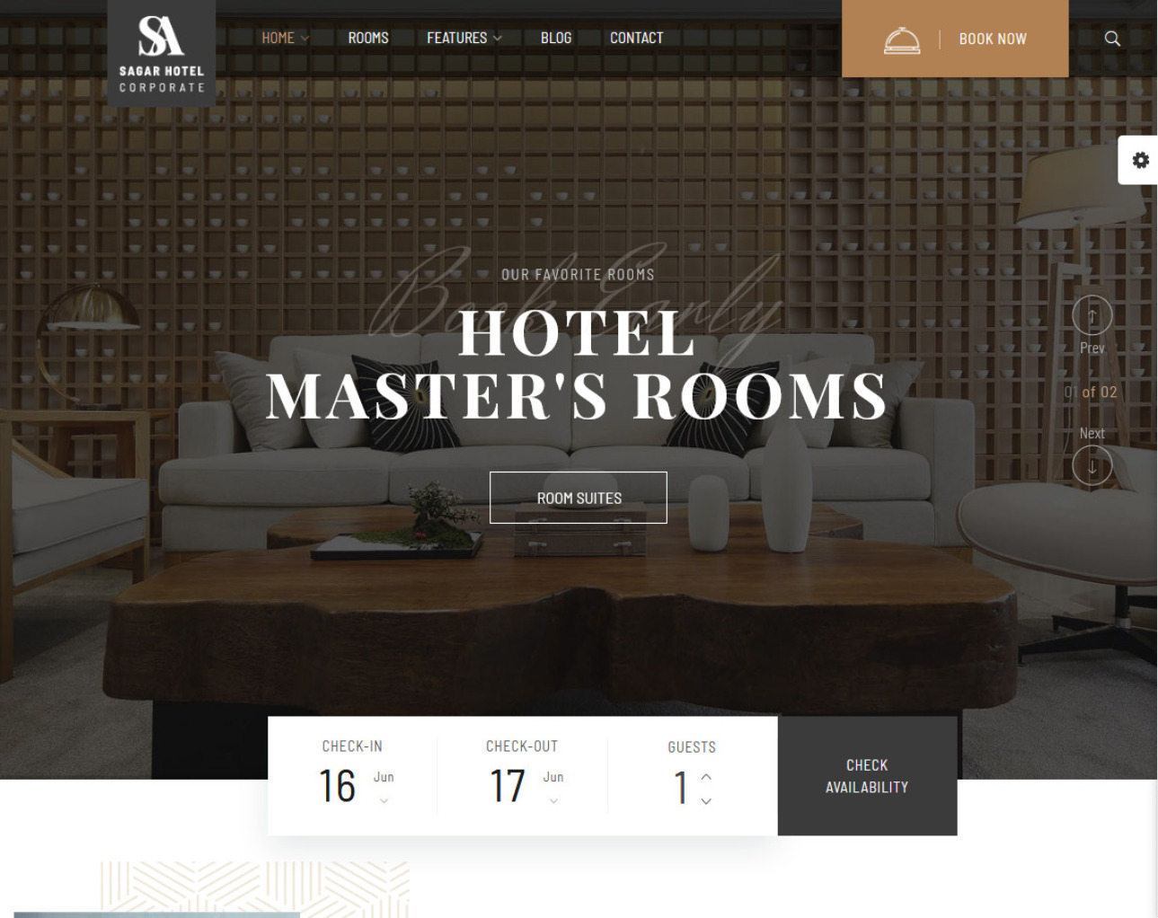 Sailing Clean Modern Hotel Booking WordPress Theme